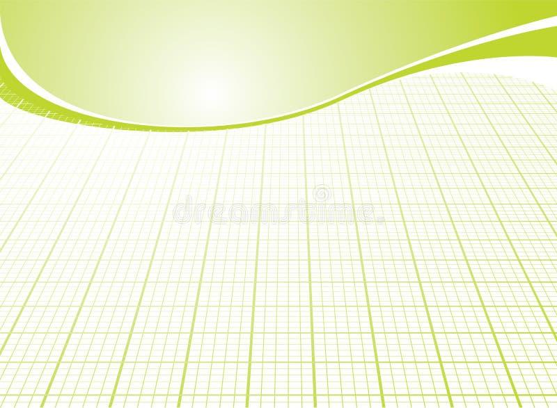 Business grid green vector illustration