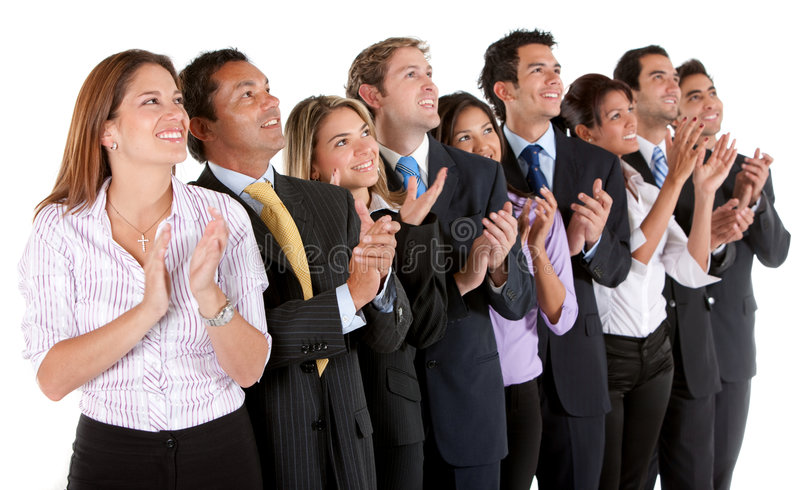 Download Business group applauding stock image. Image of businessteam - 8733287