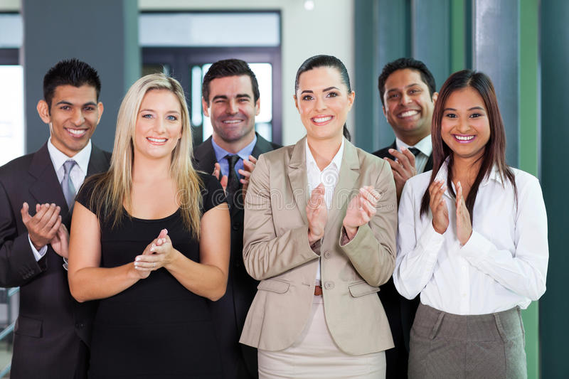 Business group applauding stock images