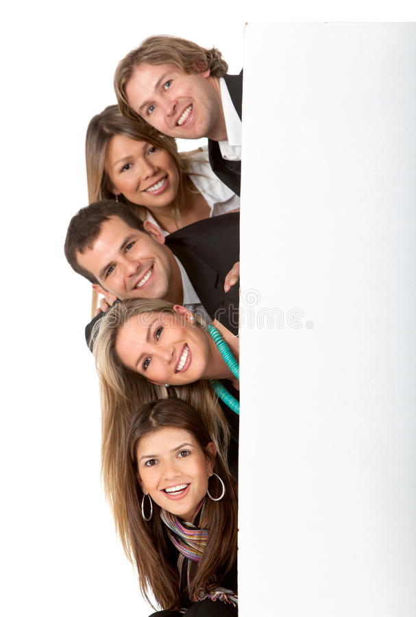 Download Business Group With A Banner Stock Image - Image: 15520487