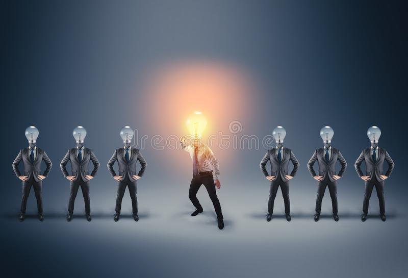 Business group.  Businessman in fight posture royalty free stock image