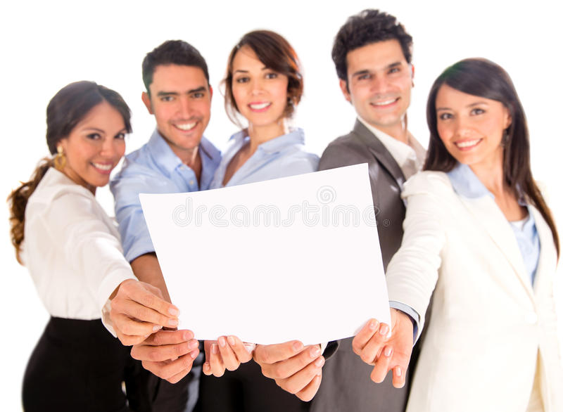 Download Business Group With A Document Stock Photo - Image: 29780824
