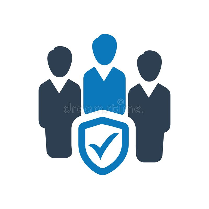 Business group insurance icon. Beautiful, Meticulously Business Icon use for any kind of web and print design royalty free illustration