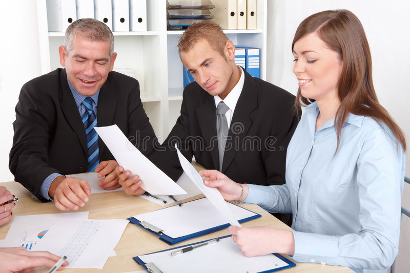 Download Business Group At The Meeting Stock Photo - Image: 7989620