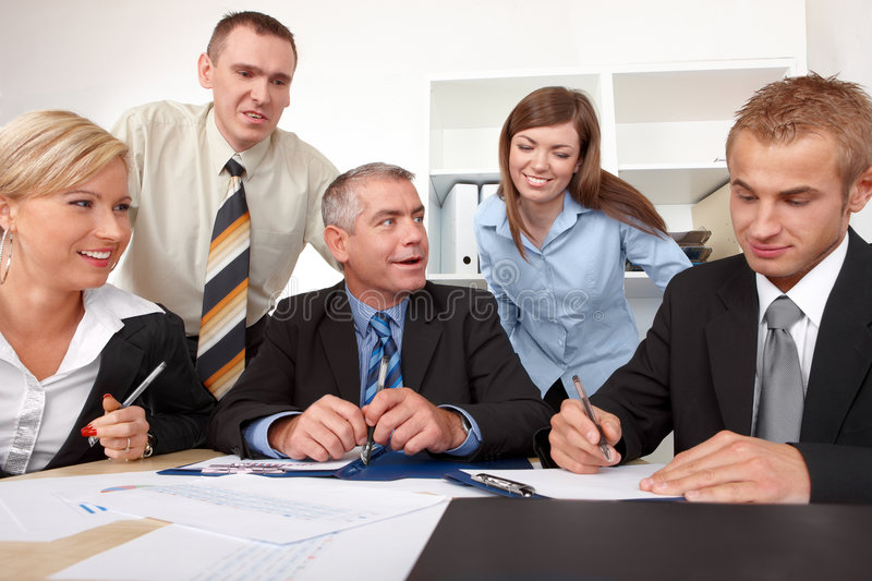Business group at the meeting royalty free stock photo