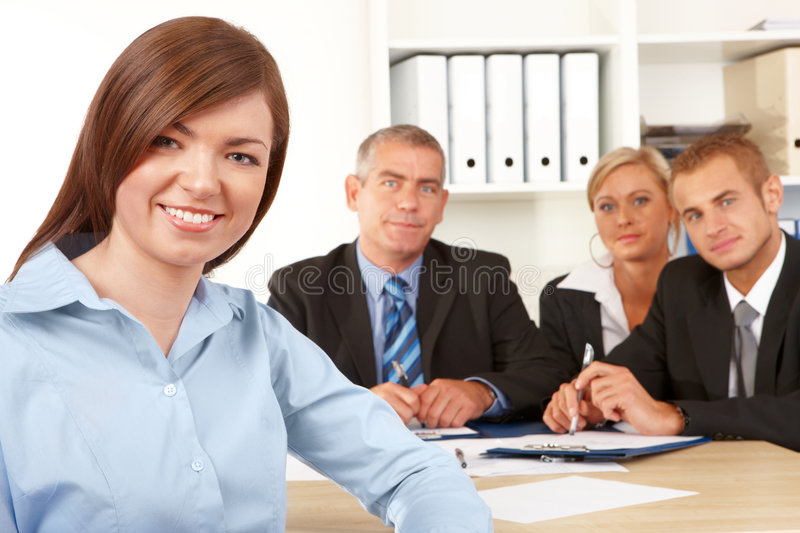 Business group at the meeting royalty free stock image