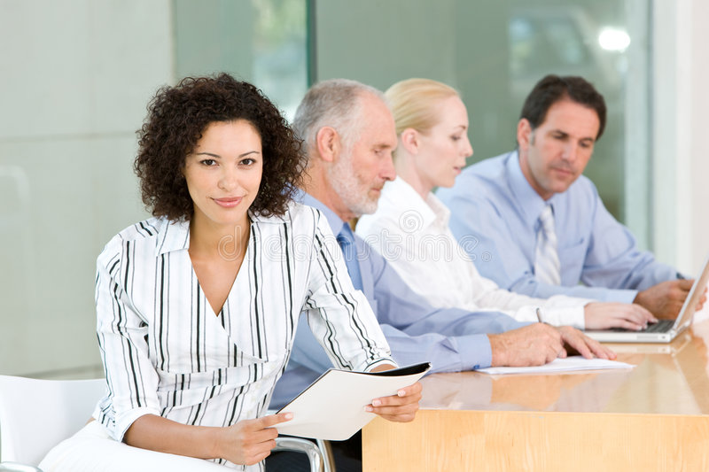 Business group meeting stock images