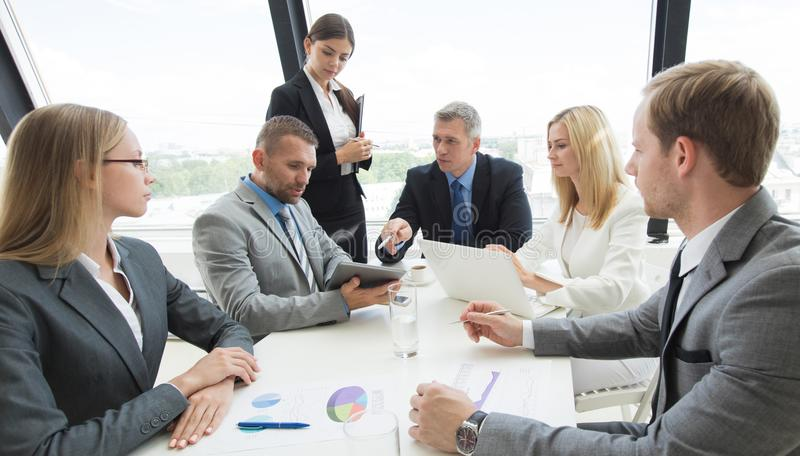 Business group at meeting royalty free stock images