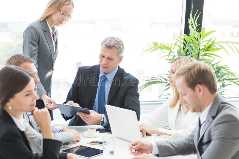 Business group at meeting royalty free stock photography