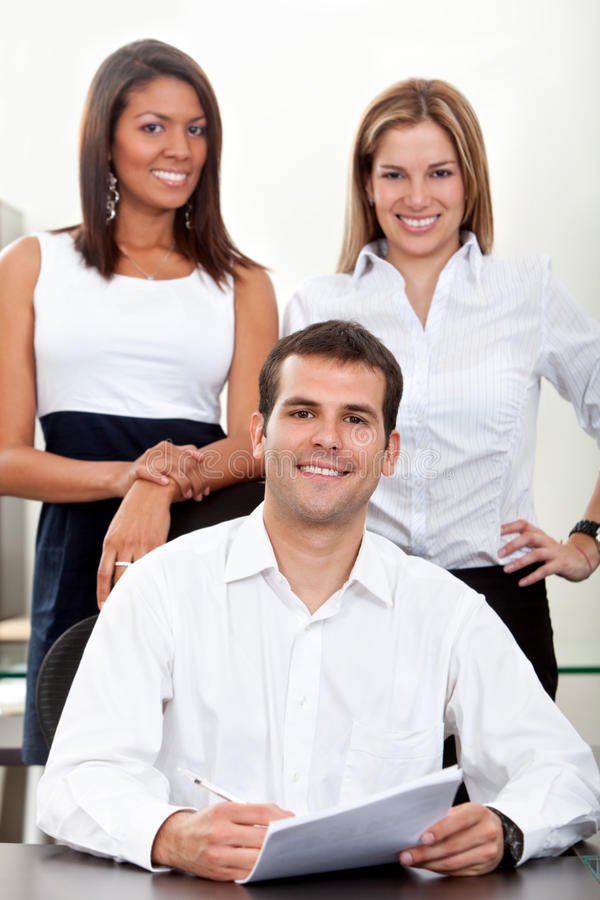 Download Business Group At The Office Stock Image - Image of colleagues, partners: 14938831