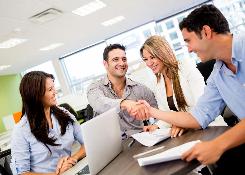 Download Business Group At The Office Stock Photo - Image: 29391428