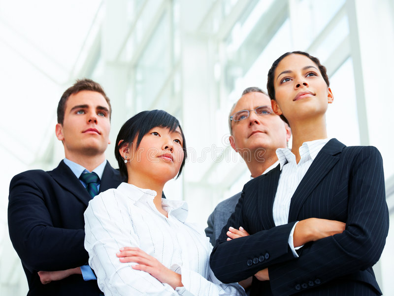 Business group portrait stock photo