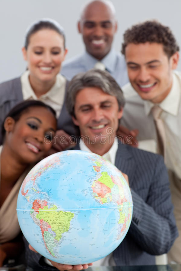 A business group showing ethnic diversity stock image