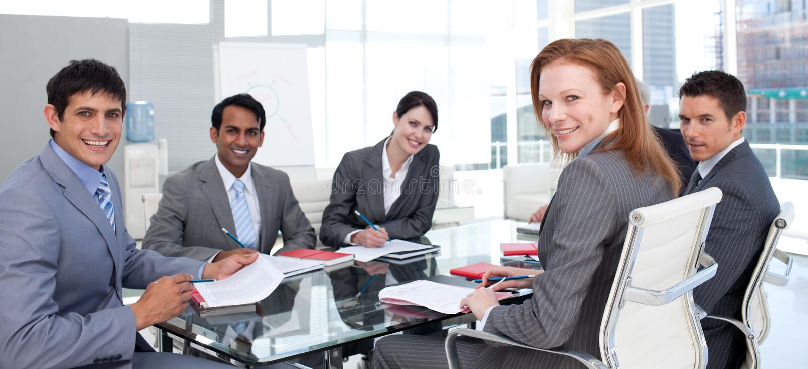 Download Business Group Showing Ethnic Diversity Smiling Stock Photo - Image: 12054260