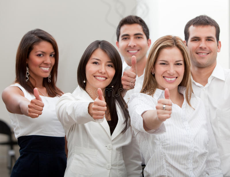 Download Business Group With Thumbs Up Stock Image - Image of corporate, entrepreneurs: 15026715