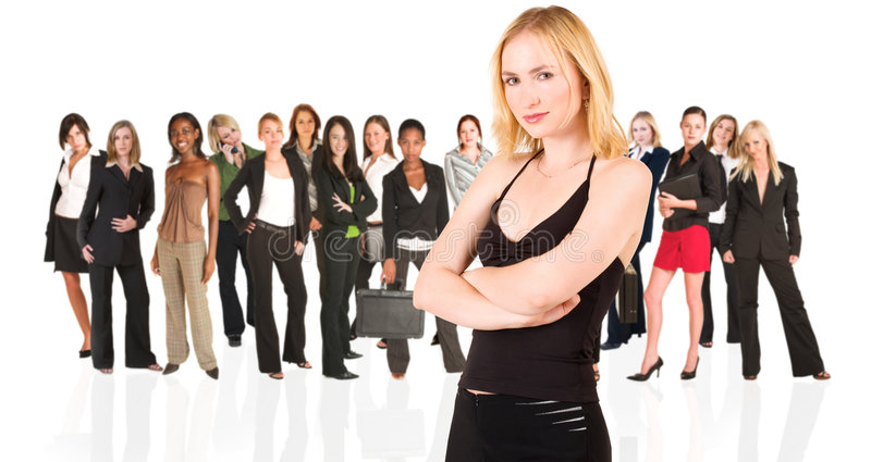 Business group of woman only royalty free stock photography