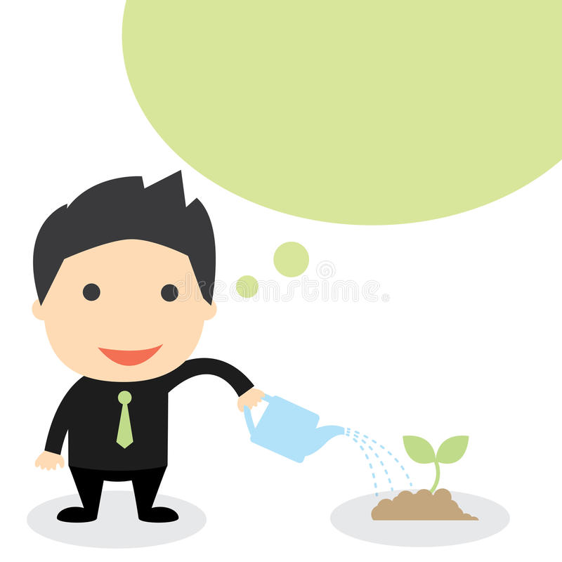BUSINESS GROW vector illustration