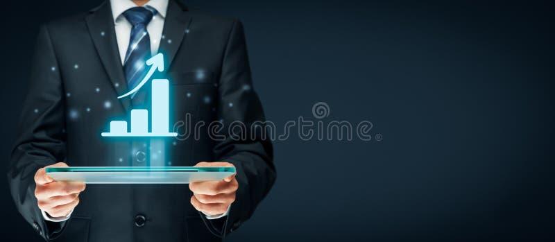 Business growth analysis stock photo
