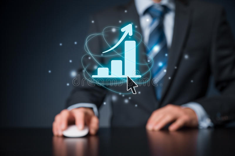 Business growth analysis royalty free stock photo