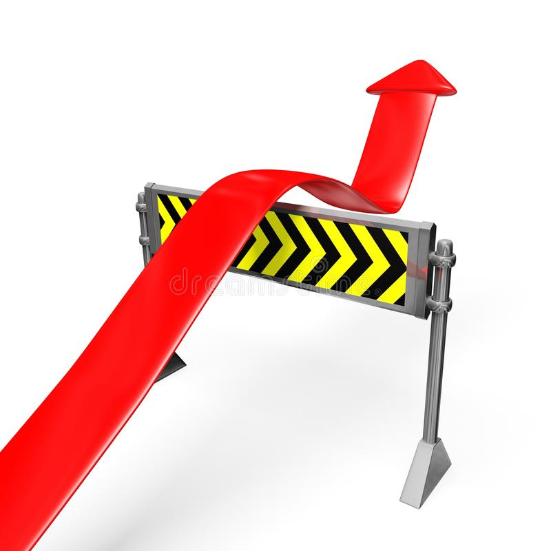 Business Growth Arrow Over A Road Block Stock Photo ...