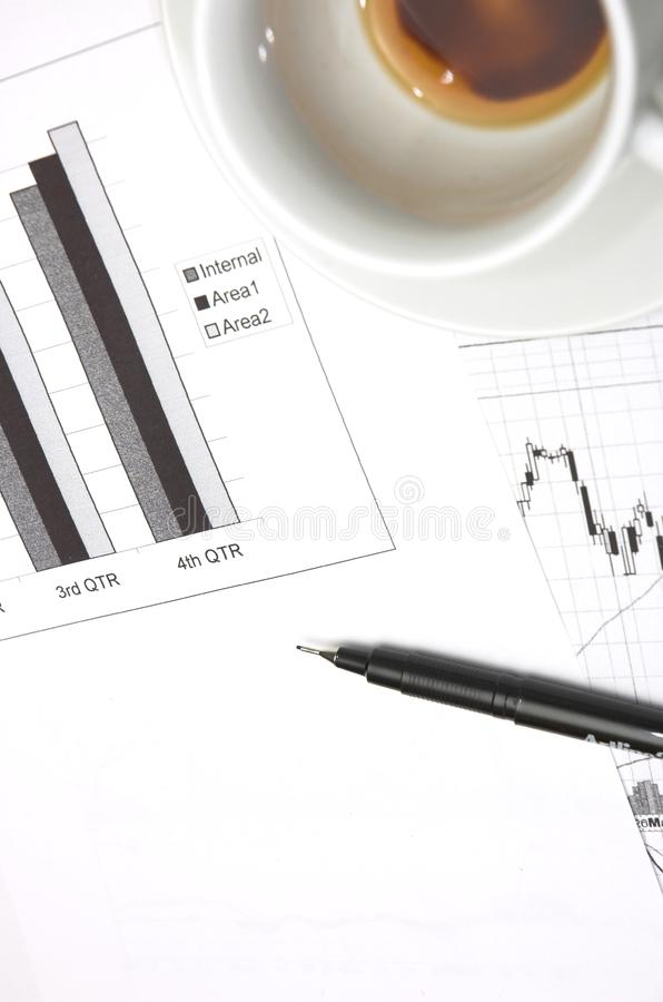Business growth chart. royalty free stock photos