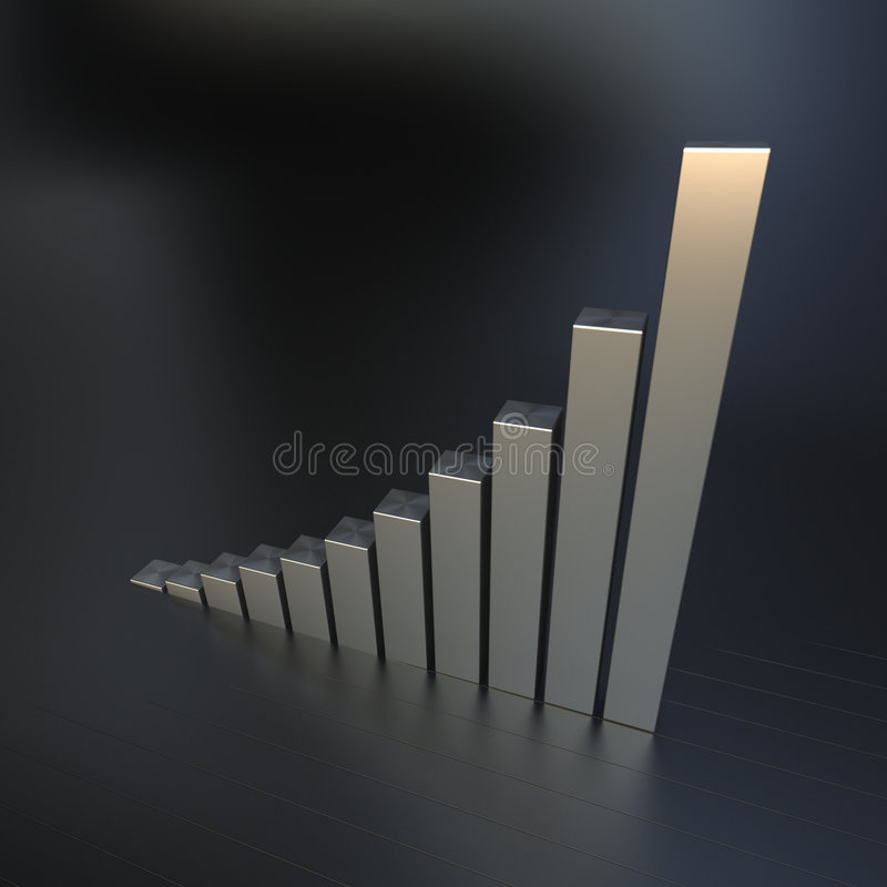 Business growth chart royalty free illustration