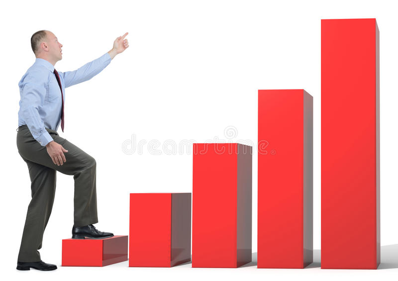 Business growth chart stock image