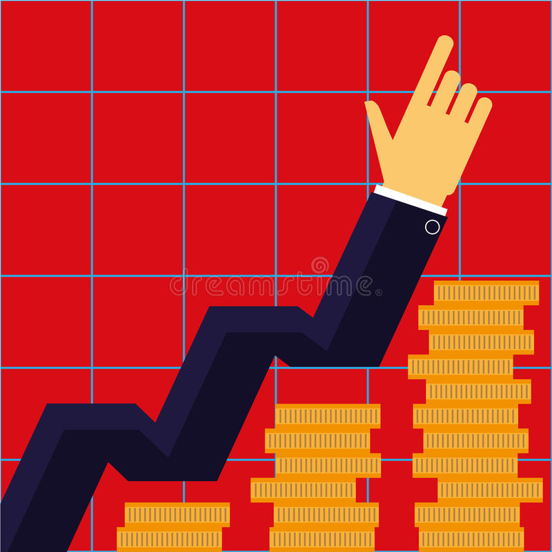 Business Growth Concept stock illustration