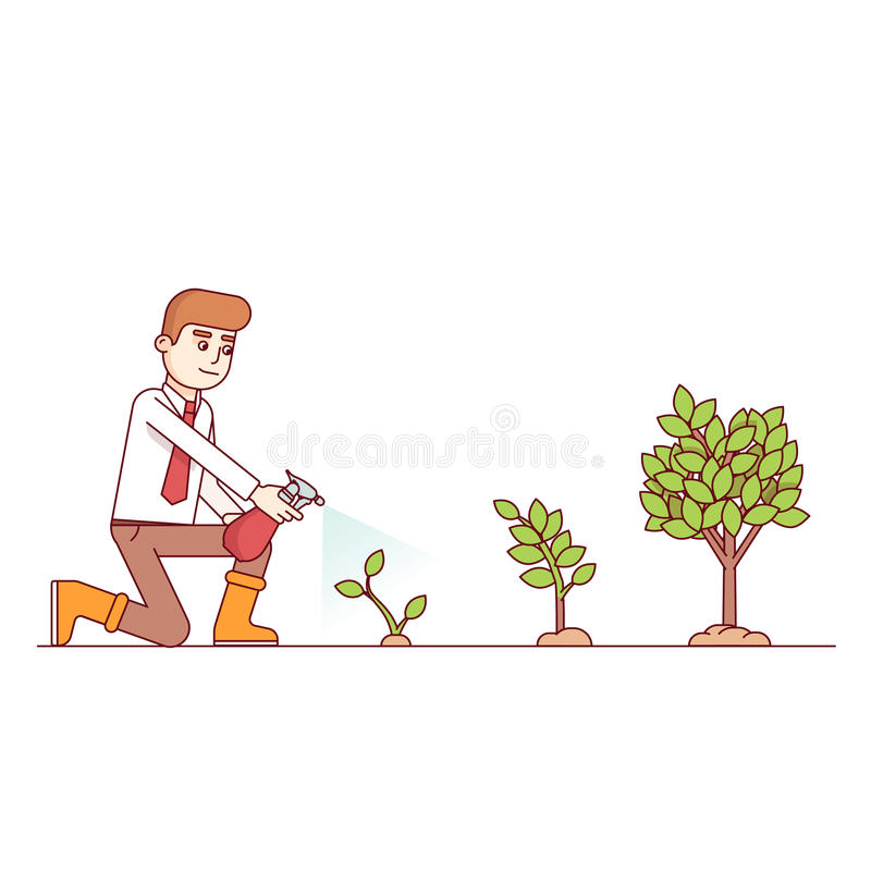 Business growth and entrepreneurship concept stock illustration