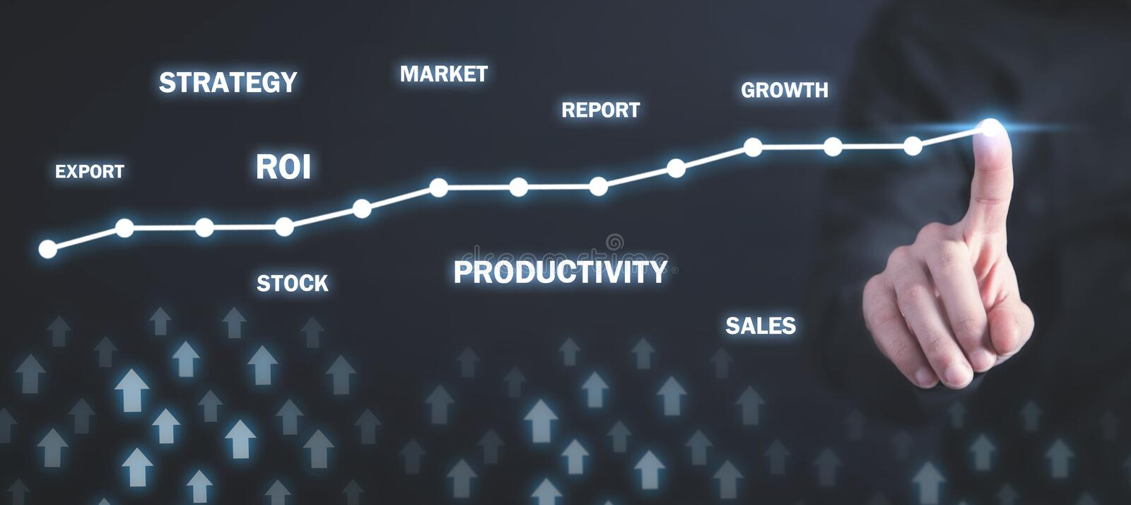Business growth graph. Development, Success. Business concept royalty free stock photos