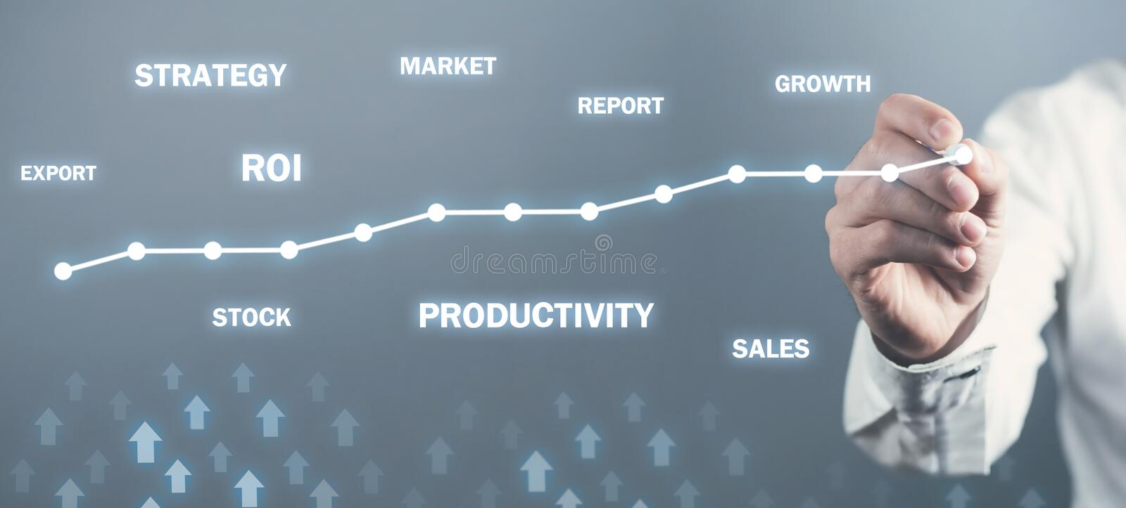 Business growth graph. Development, Success. Business concept royalty free stock images