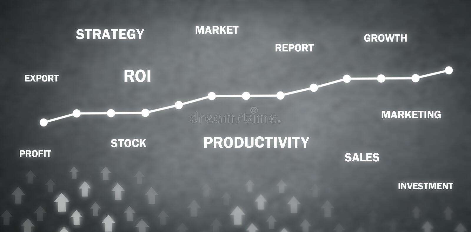 Business growth graph. Development, Success. Business concept royalty free stock image