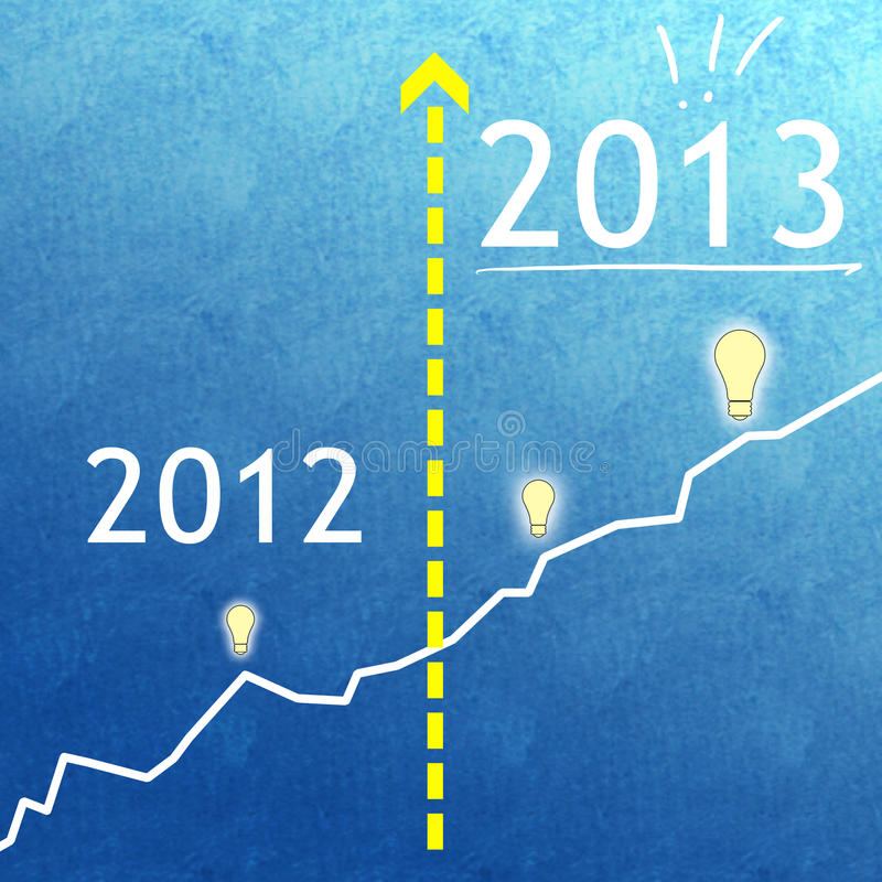 Business growth plan continues in 2013 royalty free stock photos