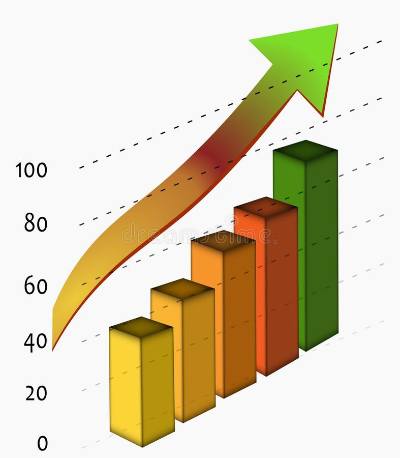 Download Business Growth And Success Graph Stock Illustration - Illustration of difference, distribution: 24451020