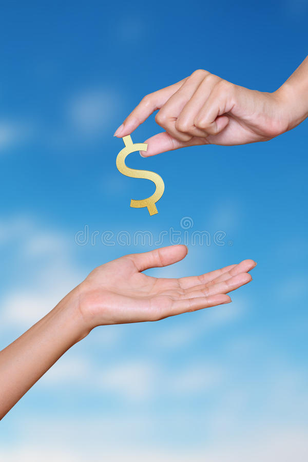 Download Business Hand With Blue Sky Stock Image - Image: 24126079