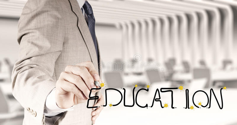 Business hand drawing graphic design EDUCATION stock images
