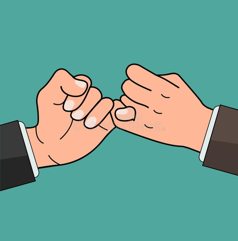Free Business Hand Pinky Promise Concept Stock Images - 135208144