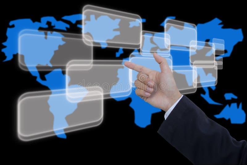 Download Business hand pushing stock image. Image of choosing - 25778995