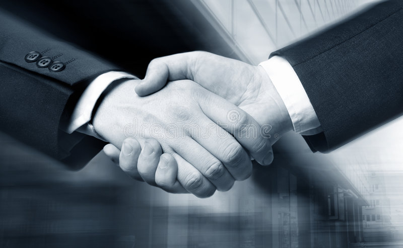 Business hand shake royalty free stock photos