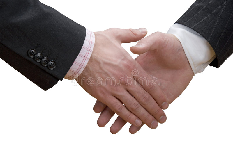 Business hand shake royalty free stock photography