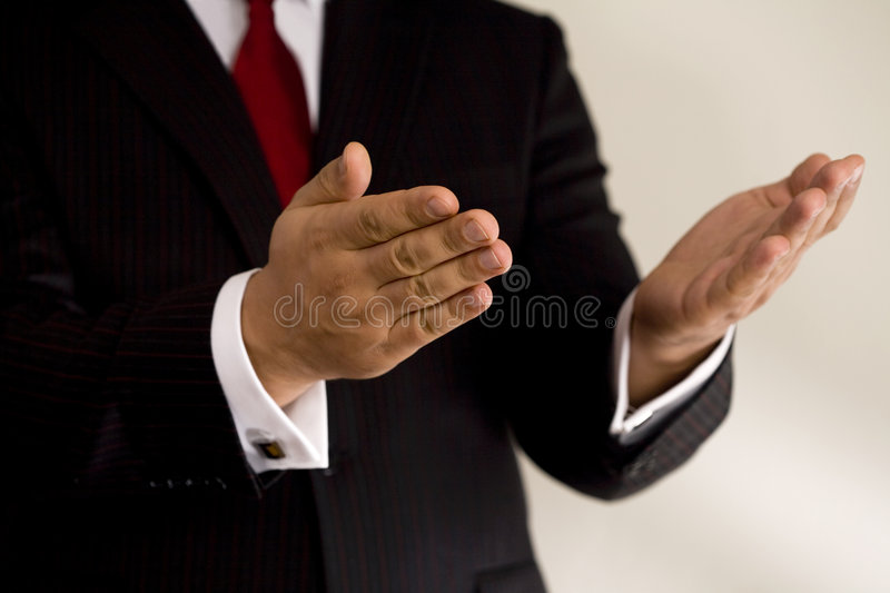 Business hands stock photo