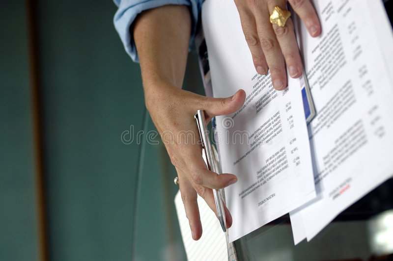 Business hands stock photography