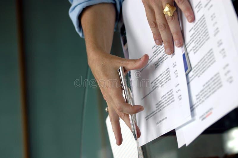 Download Business hands stock photo. Image of hands, papers, speech - 174082