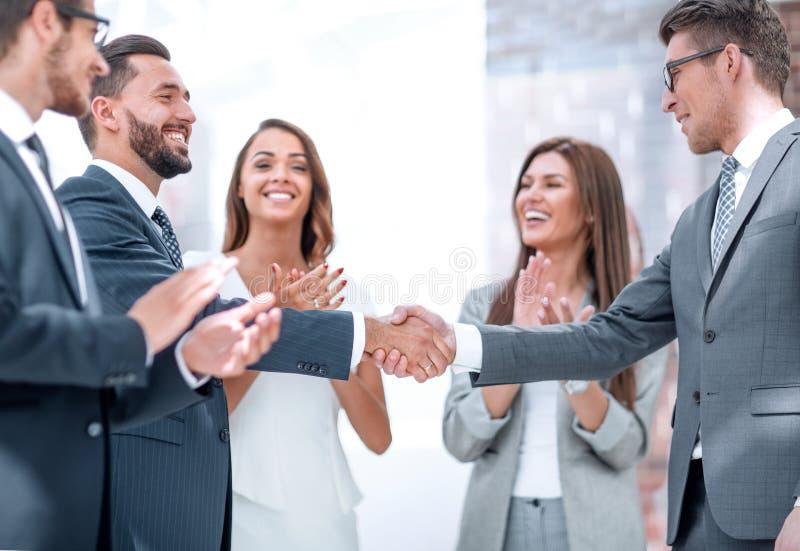 business hands partners shaking royaltyfri fotografi