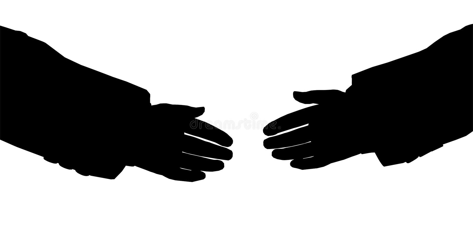 Business hands silhouette royalty free illustration