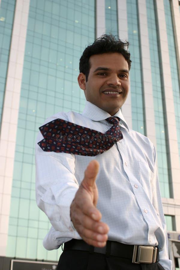 Business handshake stock image