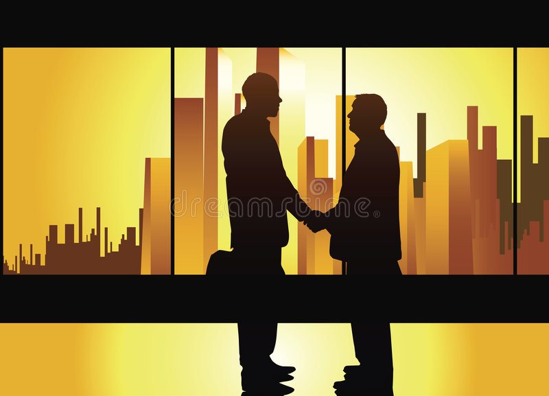 Download Business handshake stock illustration. Illustration of background - 2931922