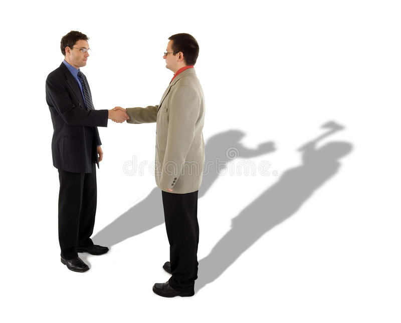 Business handshake. And the real truth behind stock photo