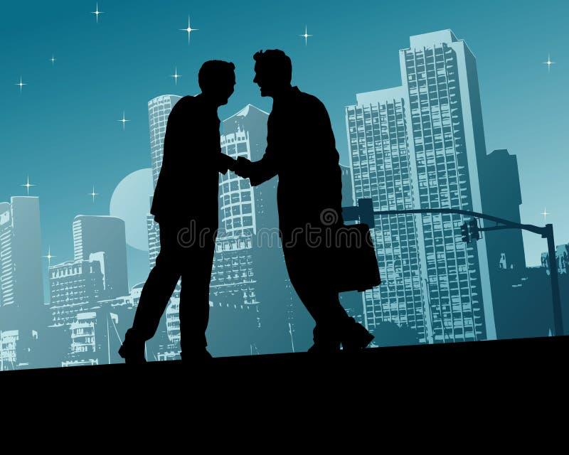 Download Business Handshake stock vector. Image of city, vector - 4366343