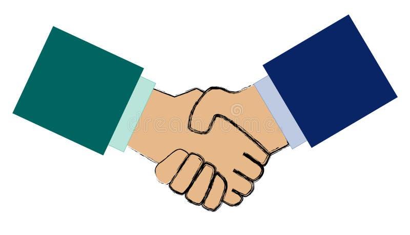 Business handshake vector illustration